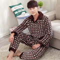 New Arrival Fashion Quilted Pajama Sets Super Soft Men Sleepwear Winter Lounge Set Three Layer Coral Fleece Thick Quilted Jacket