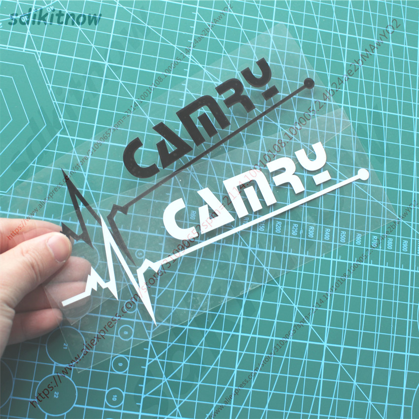 New Heart BEATS Car Decal Sticker Styling Windows Door Decoration For TOYOTA CAMRY 2018 2012 2014 2016 2010 2009 Accessories