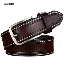 GEERSIDAN Brand Fashion Women Belt Hot Ladies Real Cow Leather Casual Straps Girls Accessories All-match Waistband for jean
