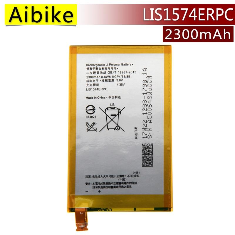 Aibike New original mobile phone battery LIS1574ERPC For Sony Xperia E4 E2003 E2033 E2105 Replacement Batteries 2300mAh