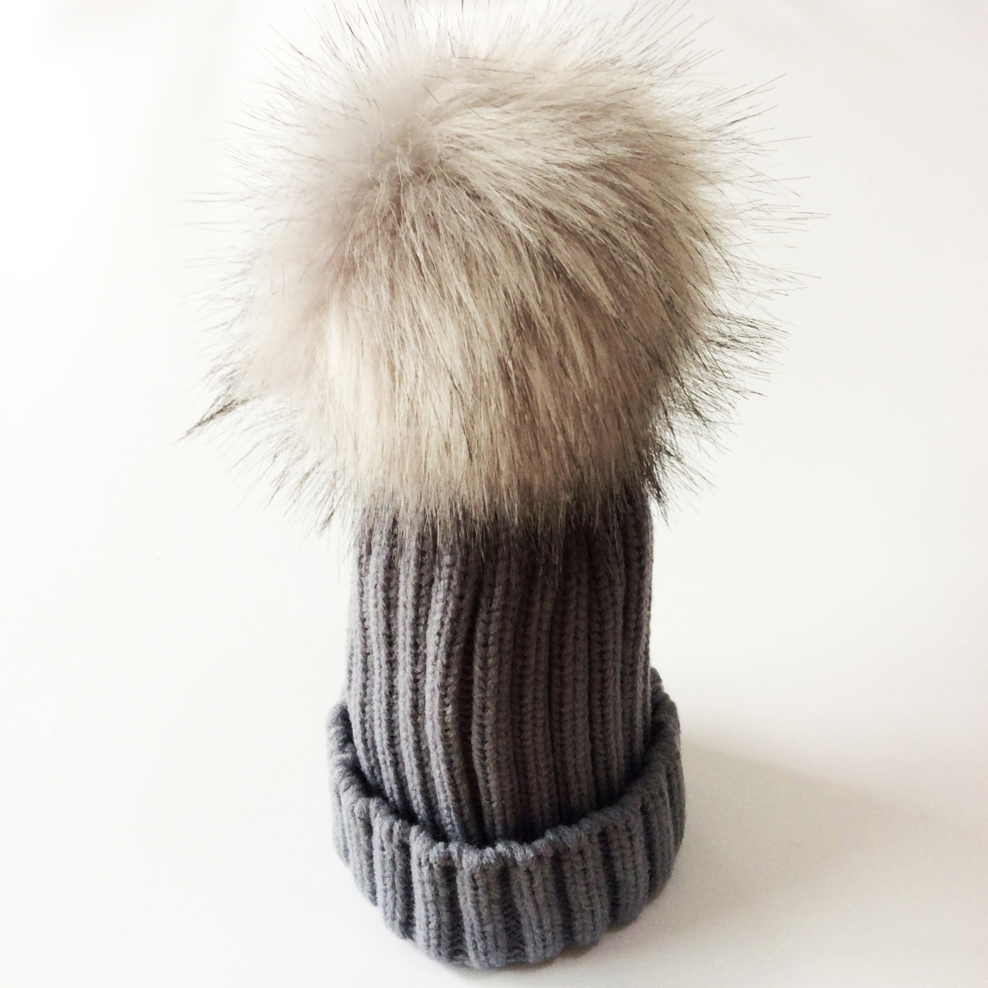 977c03b4004 Kids Cap Winter Faux Fur Hat For Girls Crochet Children s Hats Caps Fake  Raccoon Hair Baby Hat-in Hats   Caps from Mother   Kids on Aliexpress.com
