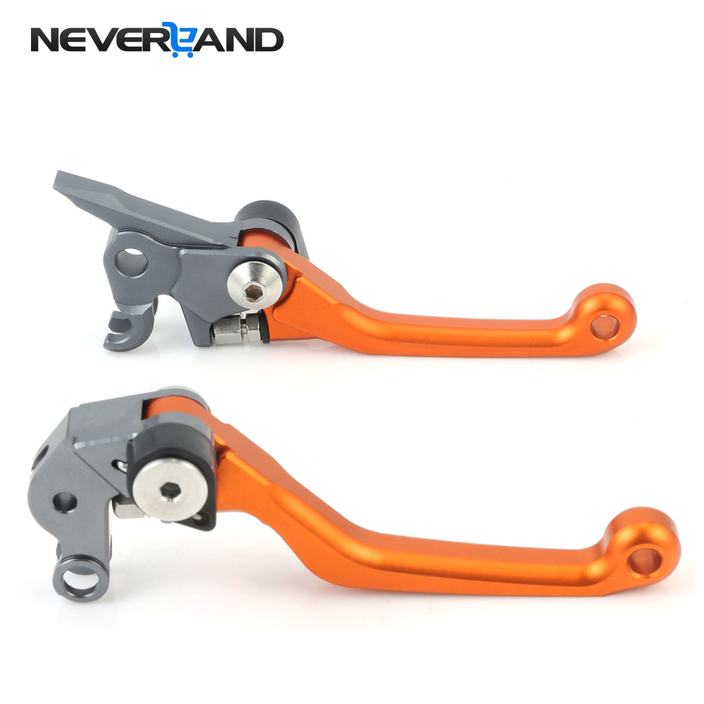 NEVERLAND Orange CNC Pivot Brake Ctutch Levers For KTM 125 EXC/SX 2005 2006 2007 2008 Magura Motorcycle Accessories motorcycle accessories increased torque of cnc pivot brake clutch levers for ktm ajp pr4 125 200 2004 2005 2006 2007 2008 2009