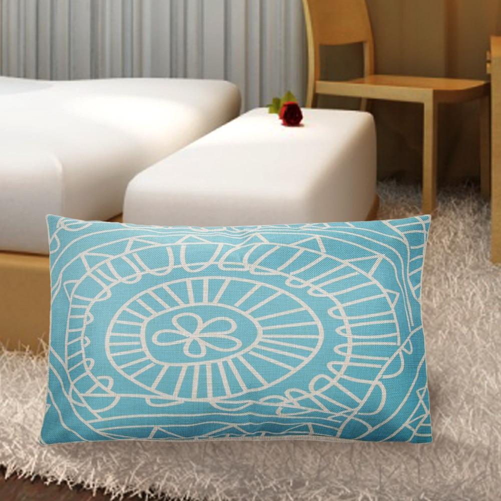 grid pattern pillow case cotton linen pillowcase waist support pillow cases body rest bedding. Black Bedroom Furniture Sets. Home Design Ideas