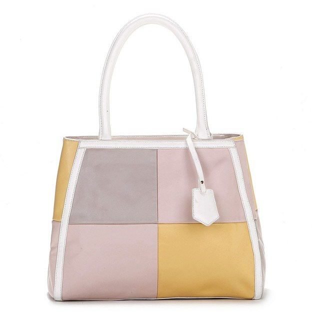 2013 New VANCL Women Bag Jamie Color Block Handbag Leather-look Shoulder Bags Color Matching FREE SHIPPING