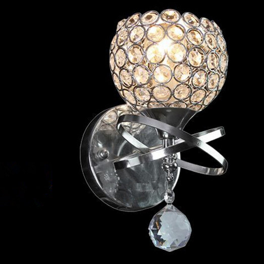 ФОТО Free shipping Brief k9 modern crystal wall lamps for bedroom