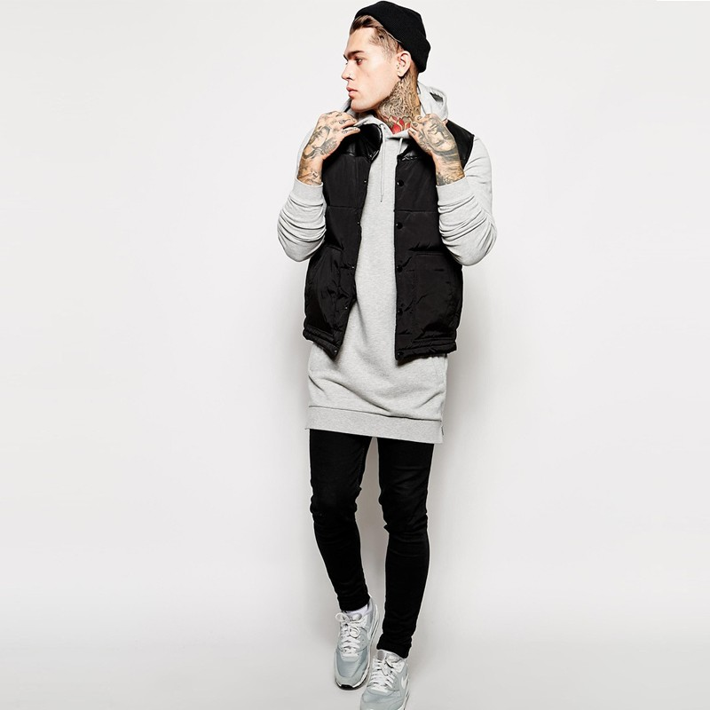 Image 5 - Men's hooded casual shirt new streetwear hip hop men's pullover brand hoodie fashion long hoodie hip hop jacket-in Hoodies & Sweatshirts from Men's Clothing