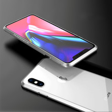 Luxury Original Brand BOBYT Aluminum Metal Bumper For iPhone XS Max XR X Anti-knock Protective Case With Metal Button
