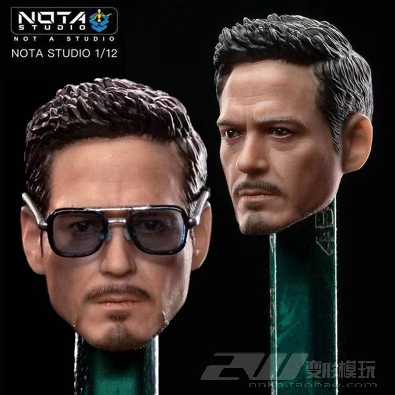 Glasses For 6in SHF In-stock Nota Studio 1//12 Iron Man Mark 50 Tony Head