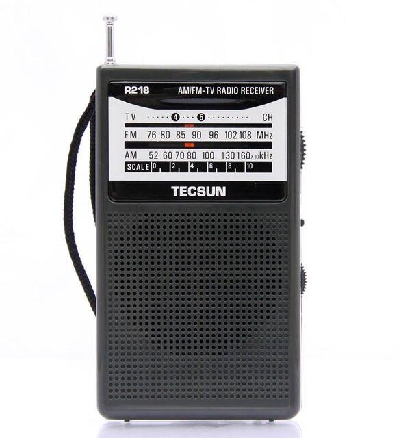 TECSUN R-218 AM/FM/TV Звук Карманный Радиоприемник