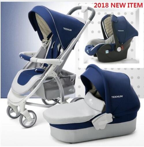 Poussette bébé de luxe 3 en 1 ou 2 en 1 landau de voyage pliable Portable nouvelle couleur en 2018