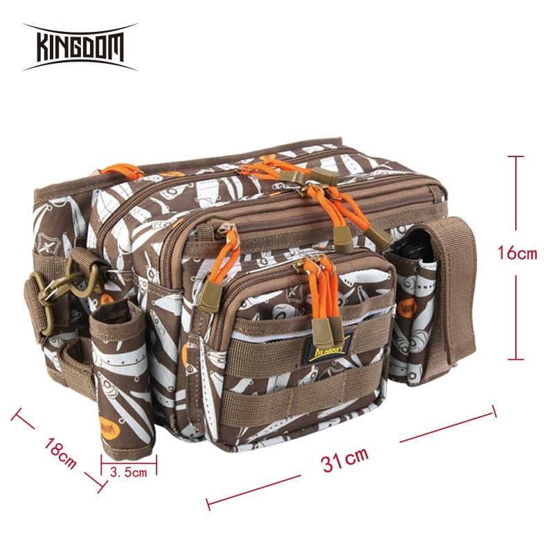 Kingdom Fishing Bag 1000D Waterproof Nylon Large Capacity Multifunctional 681g 31x18x16cm Lure Fishing Tackle Bags Model LYB-12