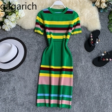 US $12.99 44% OFF|Gagarich Women Bodycon Dress 2019 Fashion Striped Knitted Short Sleeve O Neck Stretch Elegant Dresses Female Summer Vestidos-in Dresses from Women's Clothing on Aliexpress.com | Alibaba Group