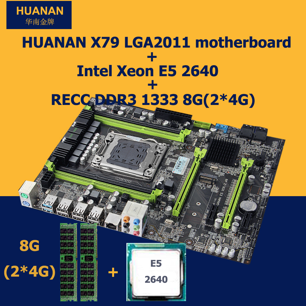 New arrival version 2 49 HUANAN X79 motherboard with Xeon E5 2640 RAM 2 4G 8G