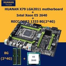 Neue ankunft version 2.49 HUANAN X79 MOTHERBOARD-FREIES mit Xeon E5 2640 RAM (2*4G) 8G DDR3 RECC 4 kanäle speicher unterstützung 32G