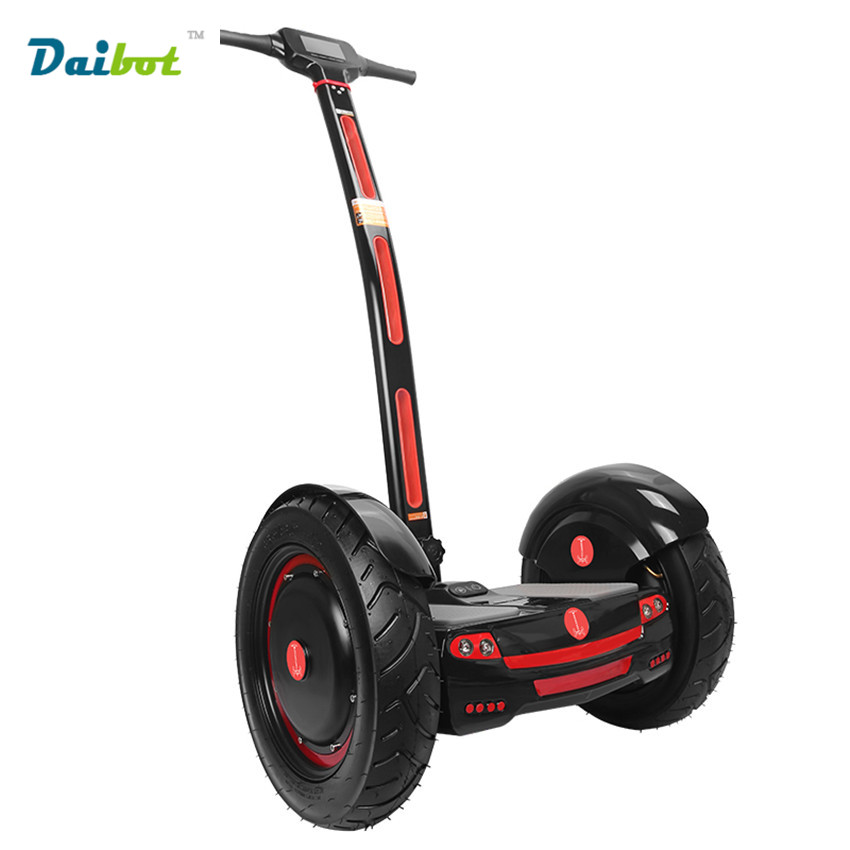 A6 15 Inch Two Wheel Handrail Electric Standing Bicycle Smart Balance Wheel Electric Scooter Skateboard Hoverboard