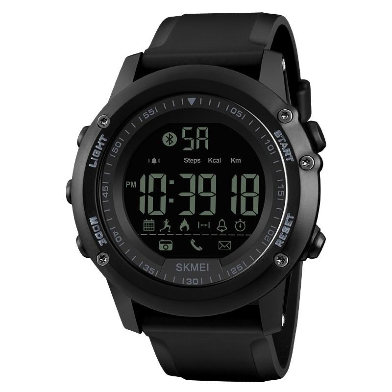 ①  SKMEI 1321 мужские спортивные часы шагомер приложение сообщение вызова напомнить калорий Bluetooth н ✔