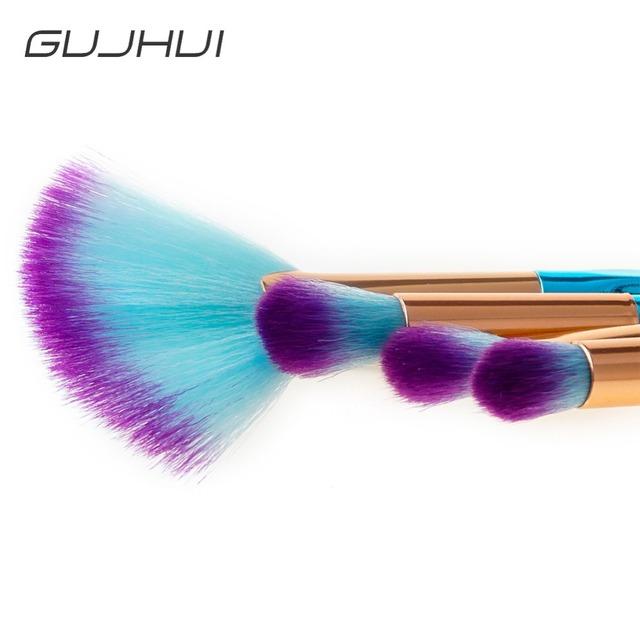Pro 4pcs Diamond Eyes Makeup Brushes Set Foundation Eyeshadow Fan Shape Powder Cosmetic Concealer pinceaux maquillage #257541