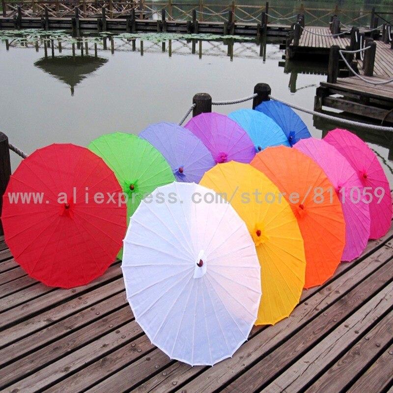 משלוח חינם One Piece מוצק צבע קישוט משי סינית מטריה חתונה עם 12 צבעים זמין