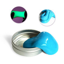 Glow in the Dark Plasticine Luminous Slime Hand Putty DIY Clay Rubber Mud Toy недорого