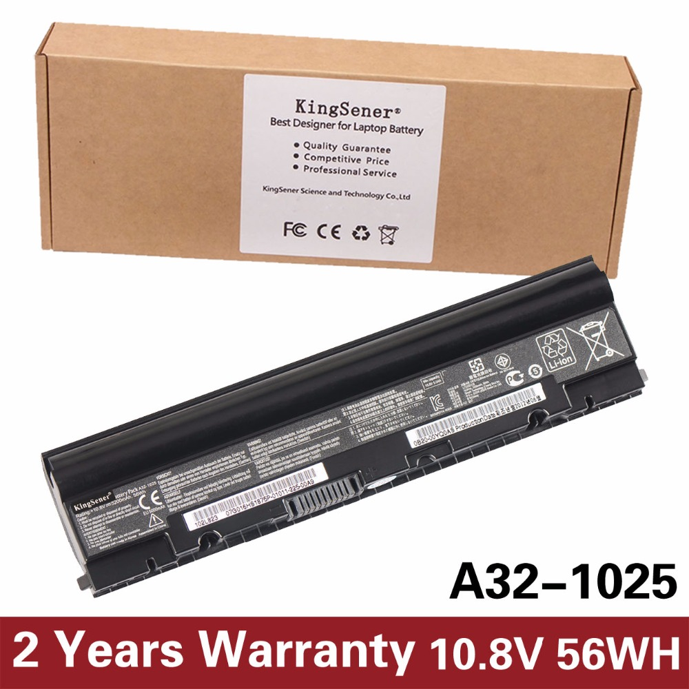 KingSener Korea Cell A32-1025 Laptop Battery for ASUS Eee PC 1225 1215 1025 1025C 1025CE A31-1025 A32-1025 10.8V 5200mAh нетбук asus eee pc 1005p