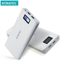 Original 20000 mAh ROMOSS Sense 6 / 6 Plus LCD Portable Power Bank Charger External Battery Fast Charging For Phones Tablet(China)