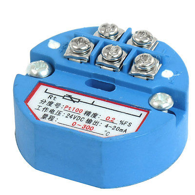 PT100 Thermocouple Temperature Sensor Transmitter 0-300C DC 24Volt pt100 thermocouple temperature sensor transmitter 0 250c dc 24volt