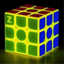 Новинка Zcube 3x3x3 профессиональный Магический кубик желтый светильник Прозрачный светящийся конкурс обучающая игрушка или хороший подарок для детей