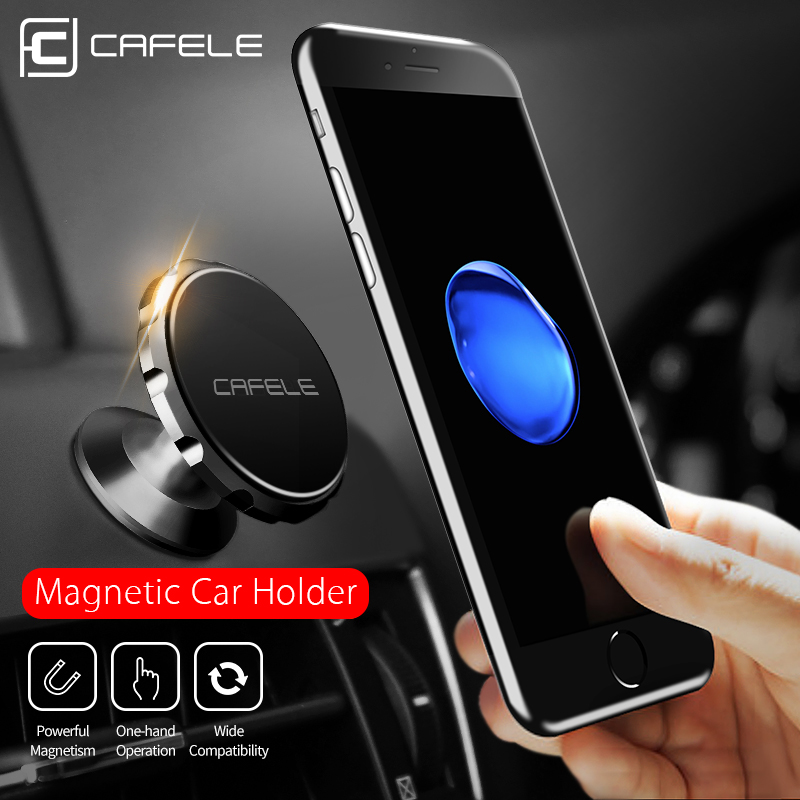 Cafele Holder for Phone in Car Dashboard Matte Surface Magnetic Car Phone Holder 360 Degree Rotation Magnetic Car Holder