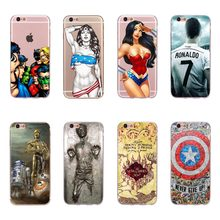 For iPhone 7 8 Case Cool Hero Wonder Woman Superman Captain American Shield Star Wars Design Case Cover For iPhone 8 7 Fundas(China)