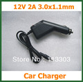 12V 2A Car Charger DC 3.0x1.1mm for Tablet PC  Acer Iconia Tab A500 A501 A200 A100 A101 Car Battery Charger Adapter