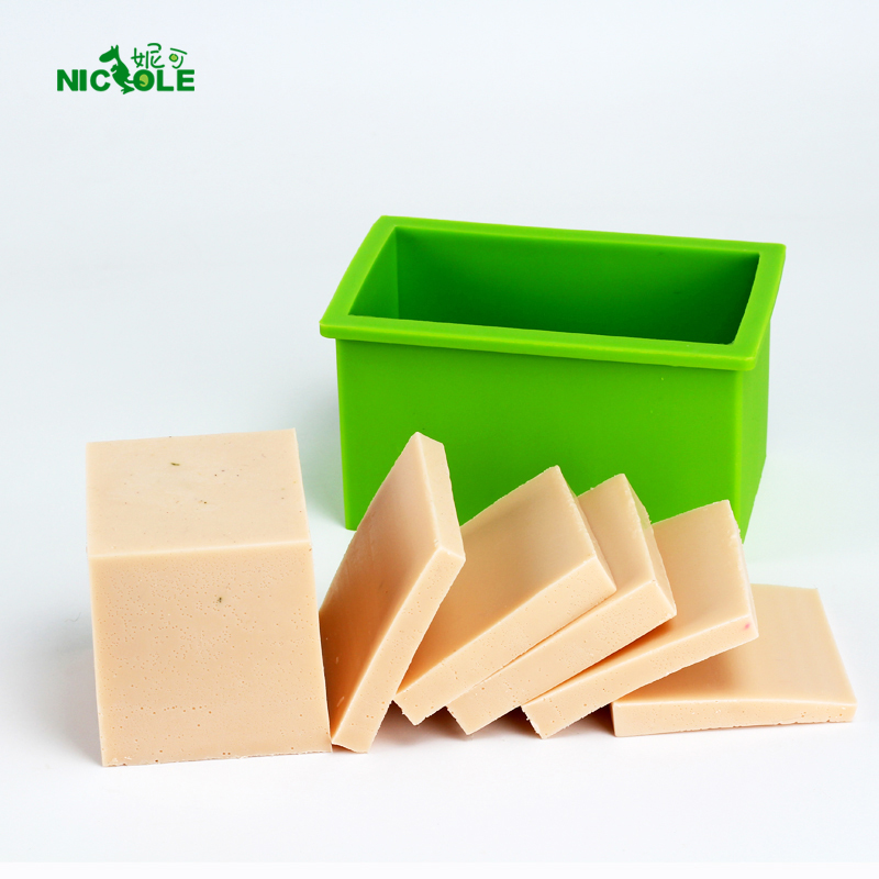 Soap Silicone Mold Flexible Rectangle Handmade Loaf Bar Mould