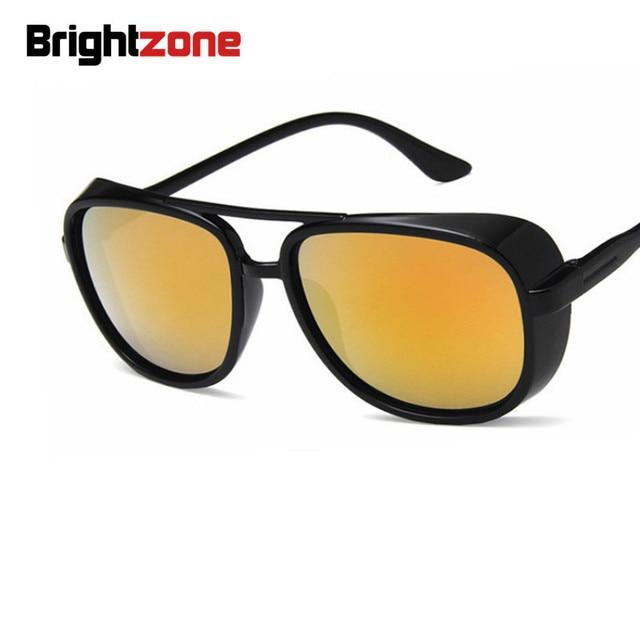 ae6bd6de14 2018 nueva marca Retro gafas redondas gafas de sol de espejo hombres  polarizados vidrios de la