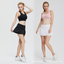 Sports Culottes Plus Size Quick Drying High Waist Trousers Run Fitness Tennis  Skirt Pocket Shorts Badmintkn 929c0361aa5d