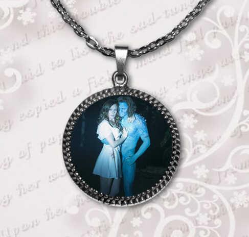 Najnowszy czarownice z East End szklana kopuła naszyjnik moda biżuteria szkło zdjęcie wisiorek naszyjnik srebro brąz spersonalizowane HZ1