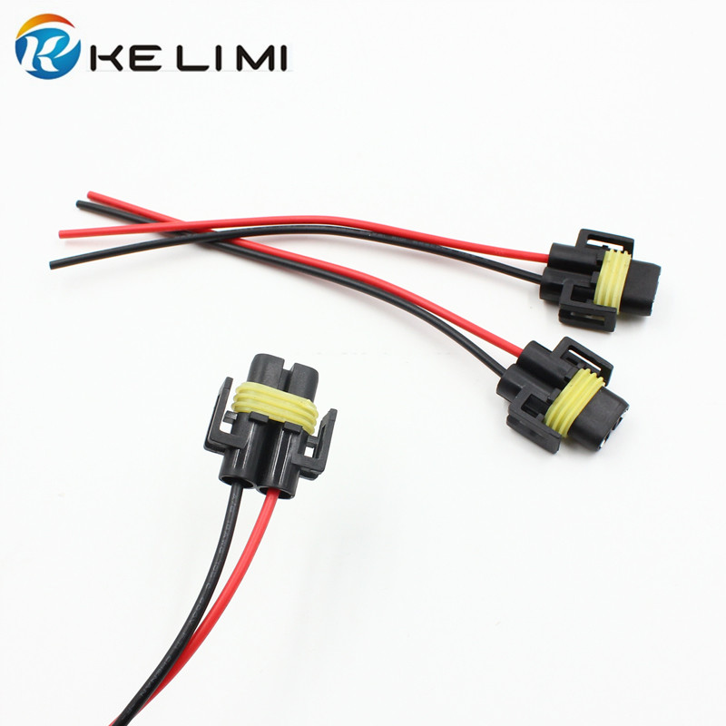 US $3.0 |KE LI MI 4x Car light accessory headlight fog lamp cables Accessory Light Wiring Harness on