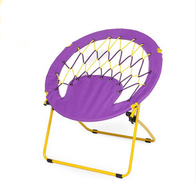 4 Pieces For A Lot Outdoor Portable Bungee Rope Spring Folding Chairs Lazy  Lounge Recline Chairs