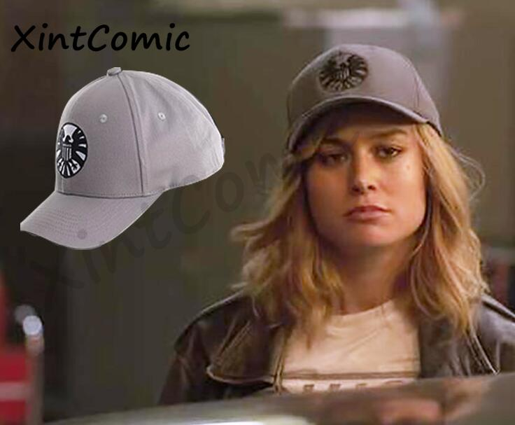 Movie Captain Marvel Carol Danvers Caps Unisex Adjustable Hip Hop Sun Hat Snapback Agents of S.H.I.E.L.D. Shield Baseball Caps