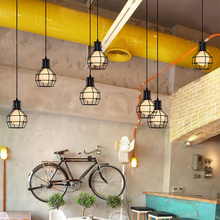 Nordic Design Retro Art Wind LED Pendant Lights Vintage Loft Iron Lampshade Multi-head Lamp Cafe Bar Decoration Lighting