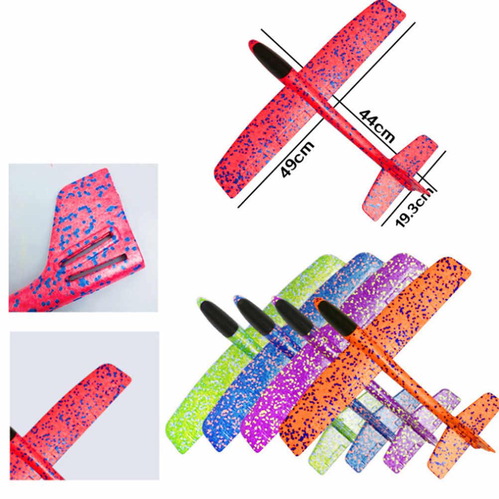طائرة إطلاق اليد رمي طائرة شراعية بالقصور الذاتي رغوة إيفا لعب الطائرات نموذج طائرة لعبة للهواء الطلق الاطفال هدية