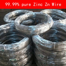99.99% pure Zinc wire diameter 0.3-4mm for Industry lab DIY metalworking