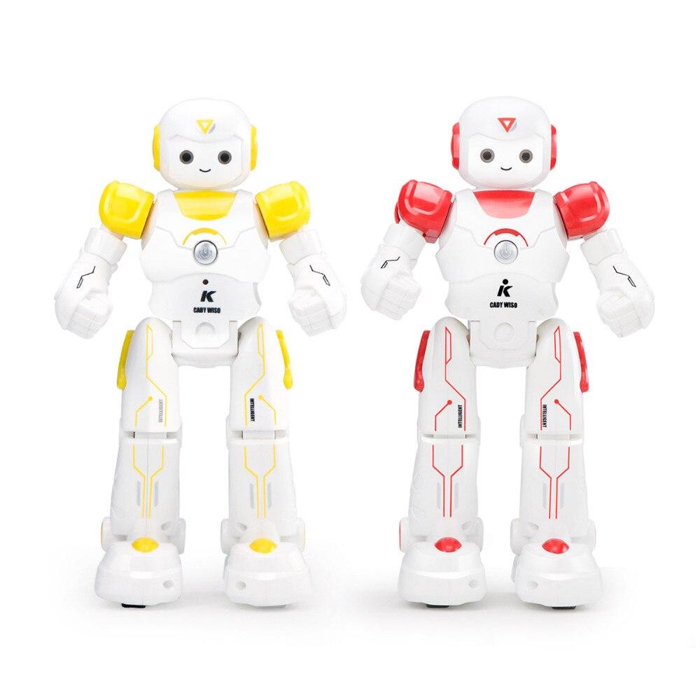 JJRC RC Robot jouets danse Sin lumière LED clignote programme Intelligent enfants cadeau de noël Playmate un clic démo Parade