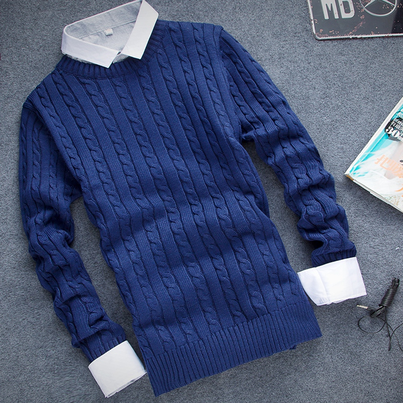 [12 Colors] High Quality Men Pullover 2016 Ny Fashion Round Collar, - Herrkläder - Foto 1