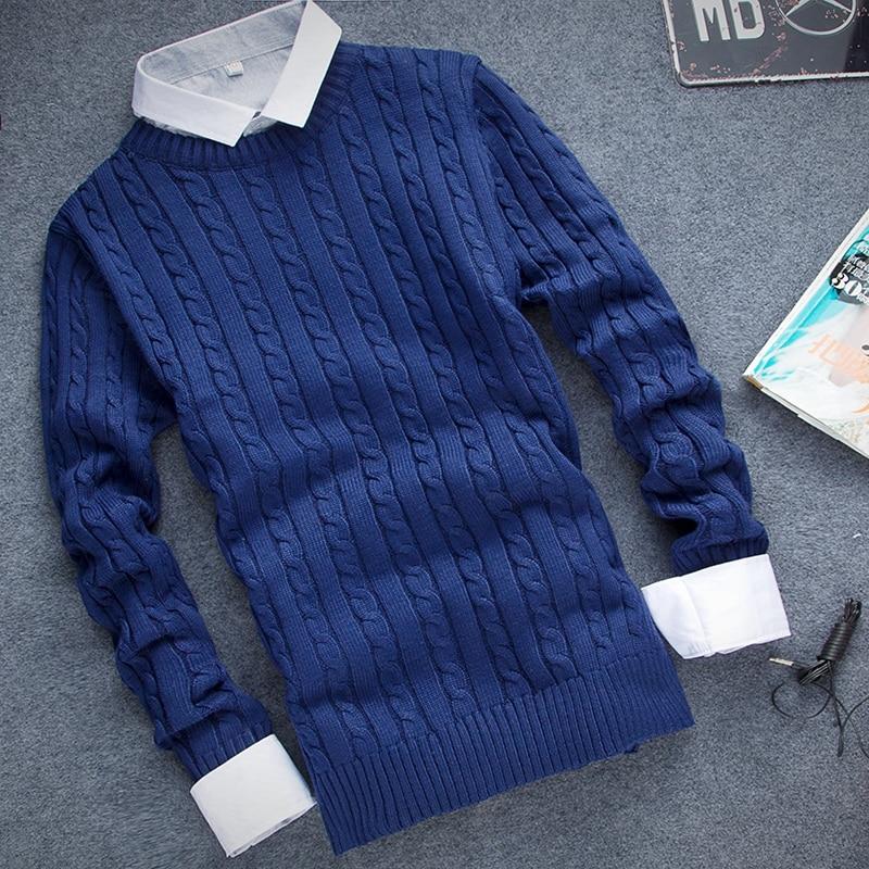 [12 szín] kiváló minőségű férfi pulóver 2016 új divat kerek gallér, téli pulóver Férfi márka pulóverek alkalmi pulóver S-3XL