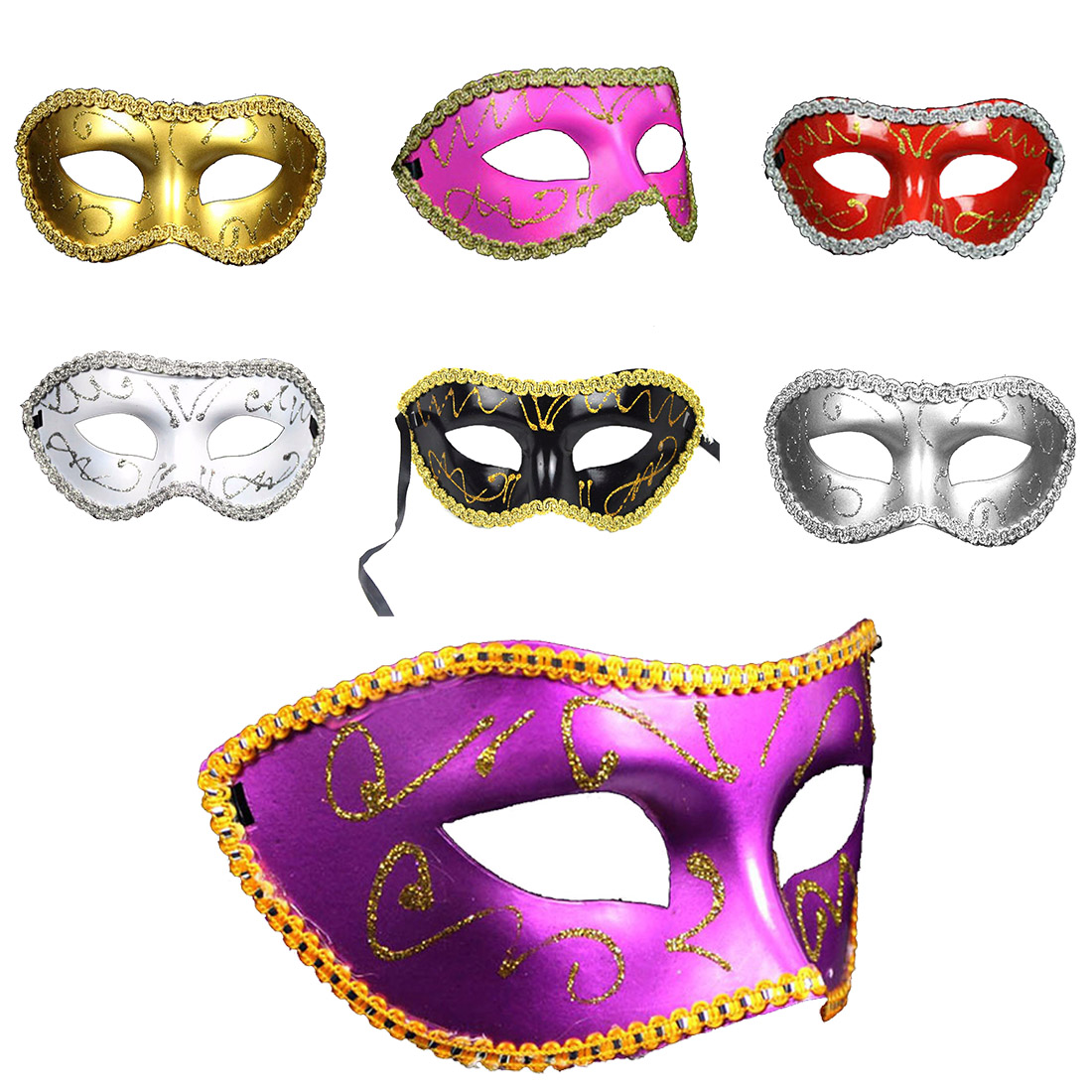 Sexy Men Women Costume Prom Mask Venetian Mardi Gras Party Dance Masquerade Ball Hallowe ...