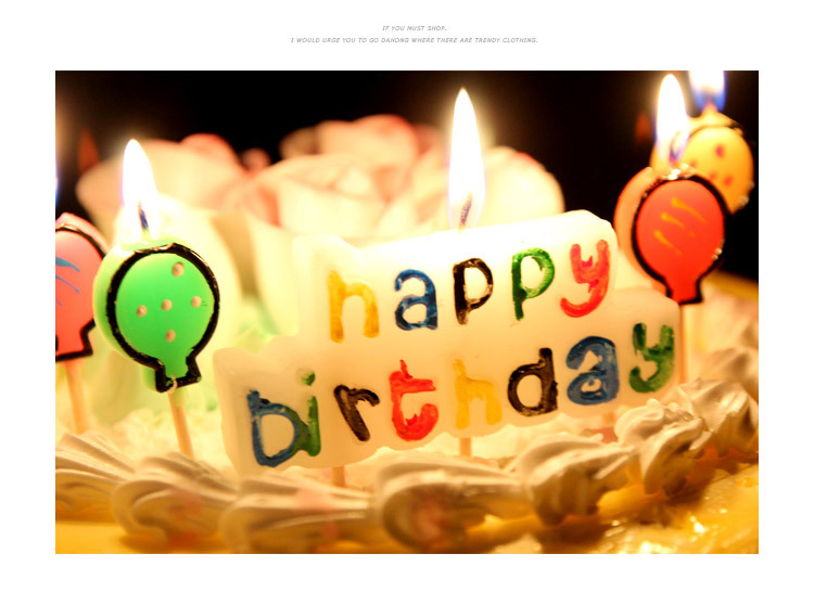 Birthday candles happy birthday holiday candle letter candles bougie