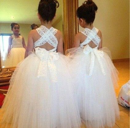 KE236 staps white tulle ball gown   flower     girl     dresses   pattern 2015 for wedding