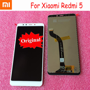 Image 2 - Assemblage Original de numériseur de panneau décran tactile daffichage à cristaux liquides de Xiaomi Redmi 5 avec le capteur de pièces mobiles de cadre