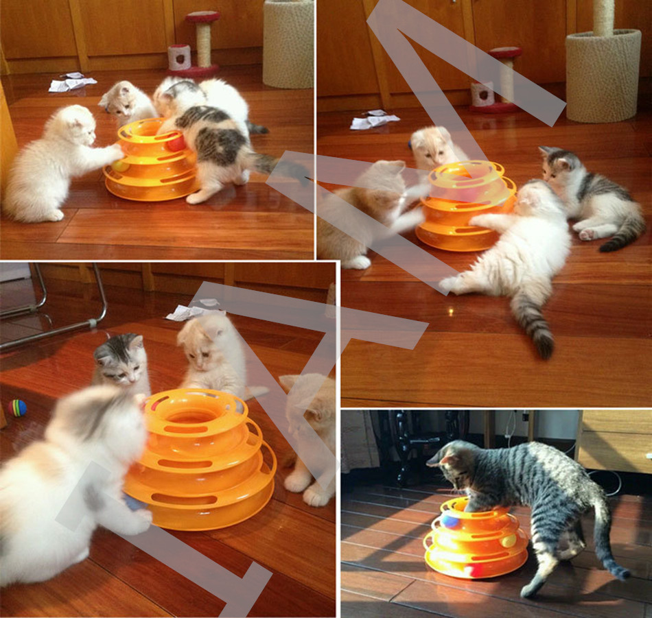 Hot Sale 5 Pcs Top Quality Funny Cat Pet Toy Cat Toys Intelligence Triple Play Disc Cat Toy Balls Free Shipping