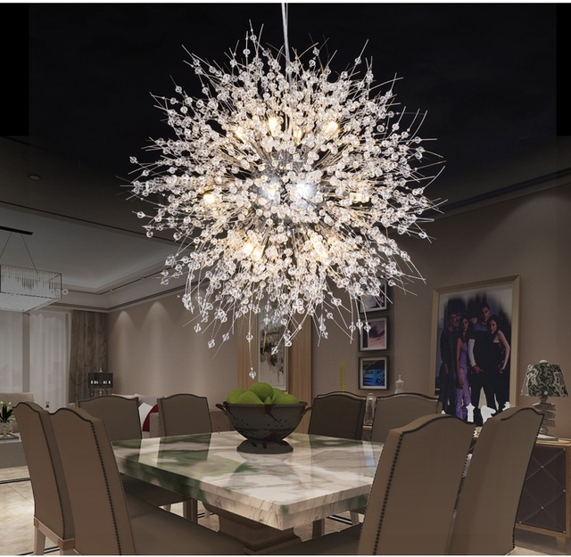 Modern Dandelion LED Chandelier Home U0026 Commercial Kitchen Bedroom Living  Room Restaurant Elegant Lighting Fixtures