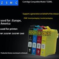 10 pcs cartucho de tinta compatível epson 220xl T220for Epson WorkForce WF-2630  WF-2650  WF-2660XP-320  XP-420 impressora